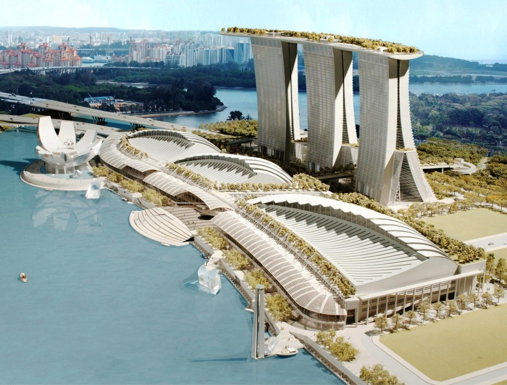 Incredible luxury hotel marina bay sands sky park interior design design news and - Singapore hotel piscina ...