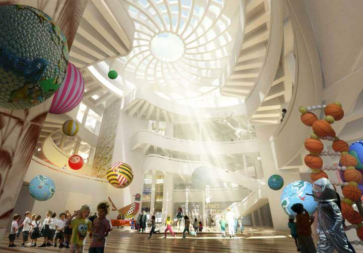 Massar Childrens Discovery Center 05 Massar Children's Discovery Centre Syria, design like a Rose by Henning Larsen