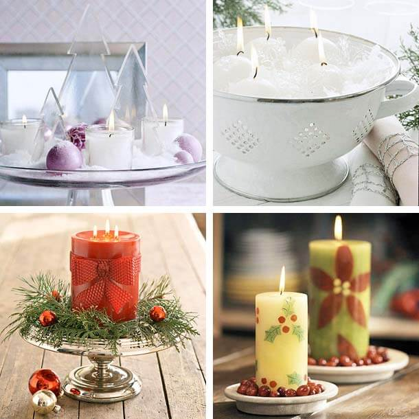 christmas candles decoration ideas1 Christmas Candles Decorating Ideas Decorating Christmas Ideas Tips for your Home Decor