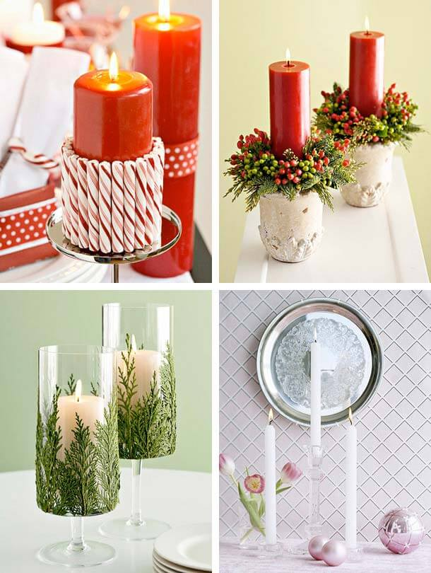 christmas candles design idea1 Christmas Candles Decorating Ideas Decorating Christmas Ideas Tips for your Home Decor