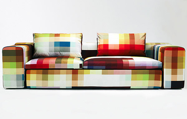 pixel couch Cristian Zuzunaga Pixel Coch and Arm Chair