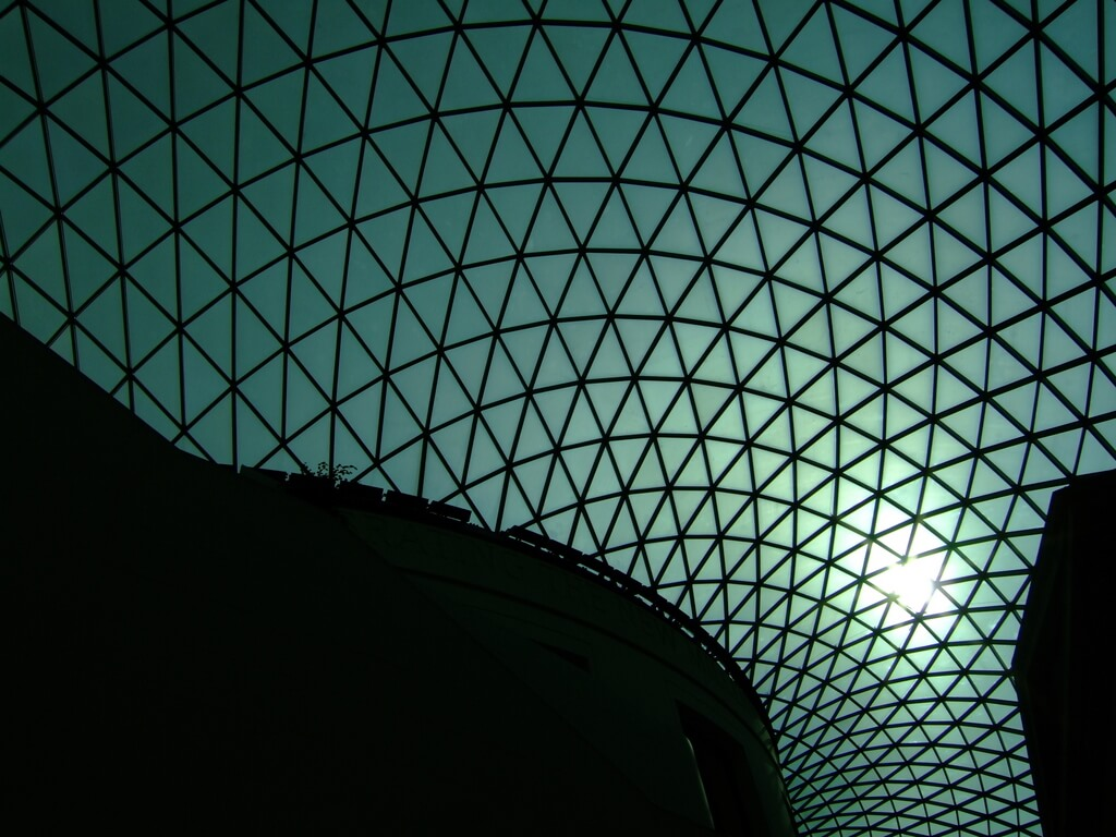 British Museum London 2 Architectural Court Roof of the London Museum