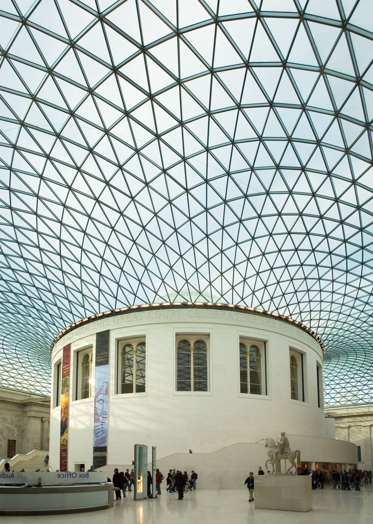 British Museum London 7 728x1024 Architectural Court Roof of the London Museum