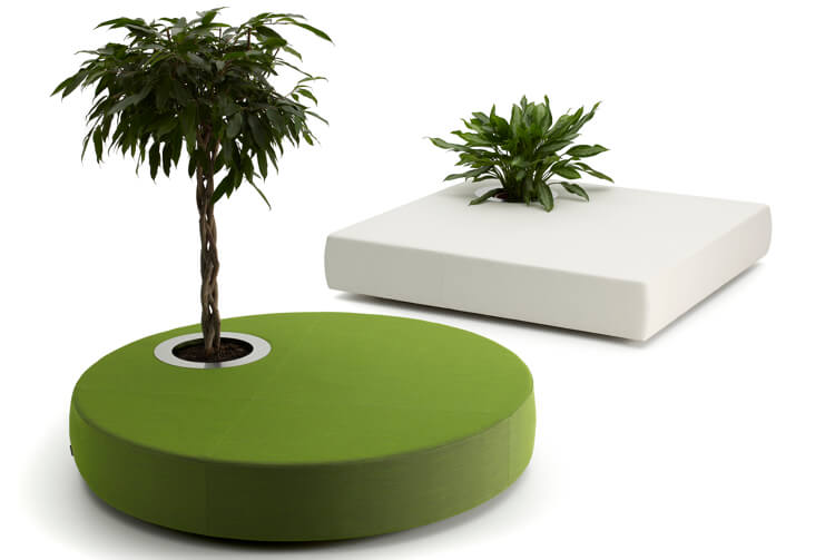 OffecctOasis 6 Office life  with chic furniture splendid integrated plants