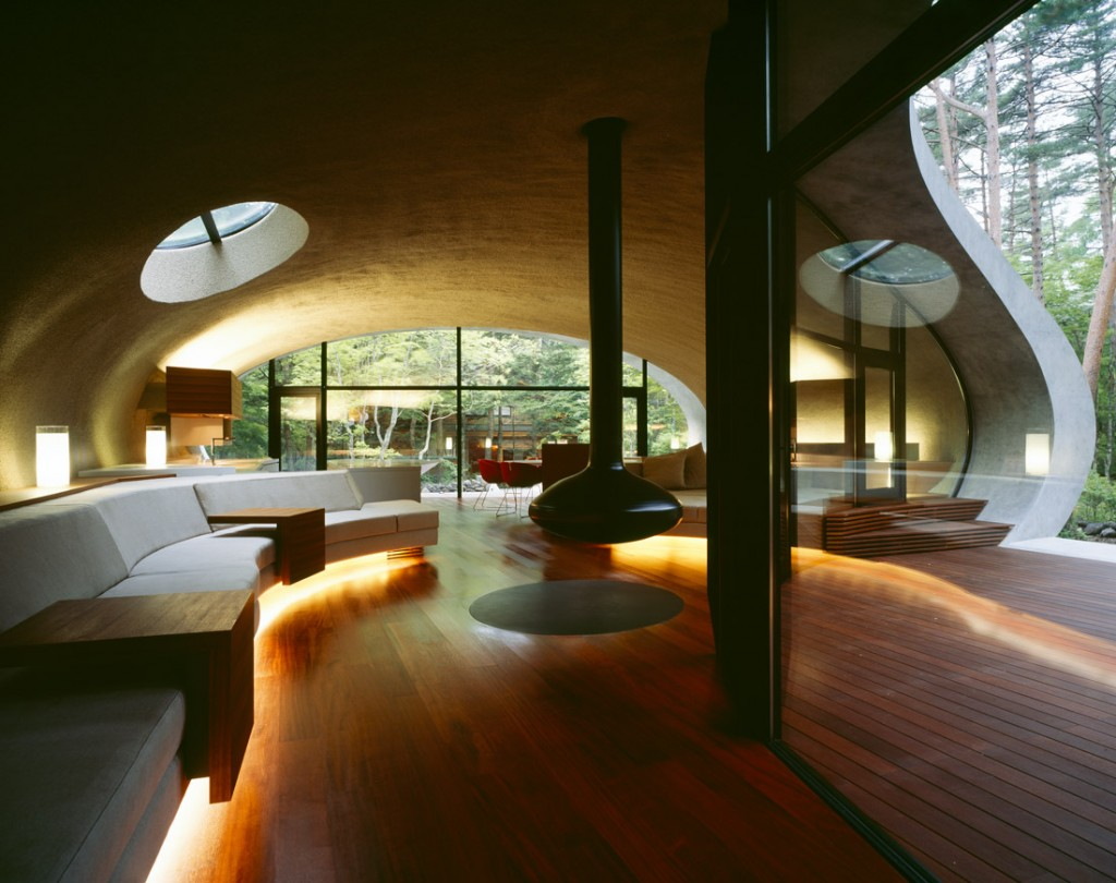 Shell architecture home 27 1024x810 Great architecture design Shell house by Kotaro Ide
