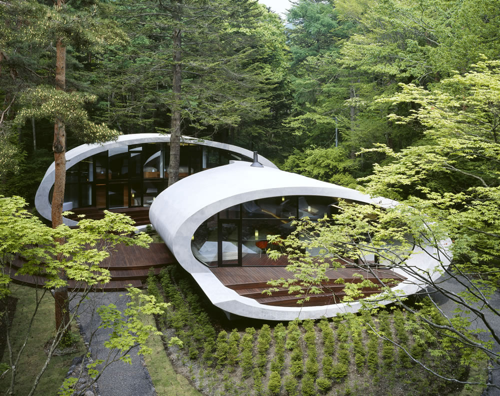 Shell architecture home 3 Great architecture design Shell house by Kotaro Ide
