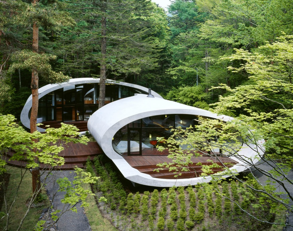 Shell architecture home 9 1024x810 Great architecture design Shell house by Kotaro Ide