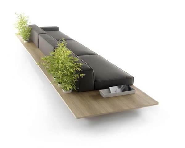 The mus sofa designed by francesc rif for koo for Minimalist sofa design