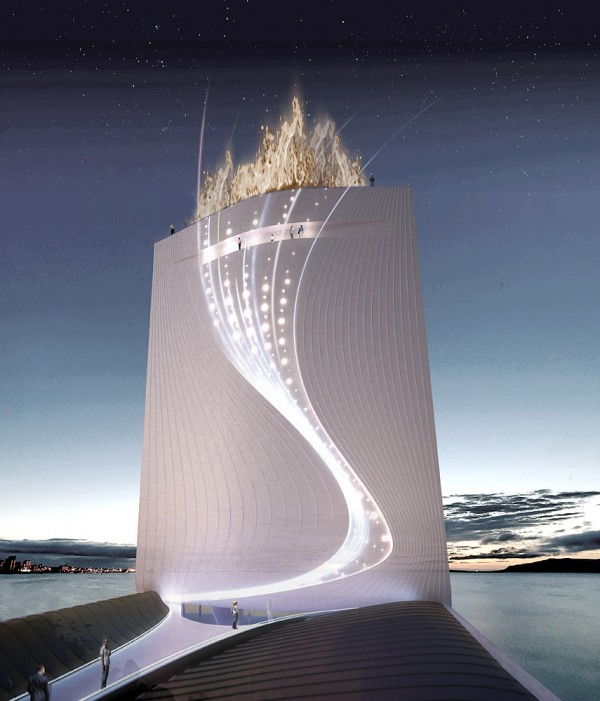 Solar-City-Tower-for-Rio-Olympics-2016-Night-view-of-Olympic-flame