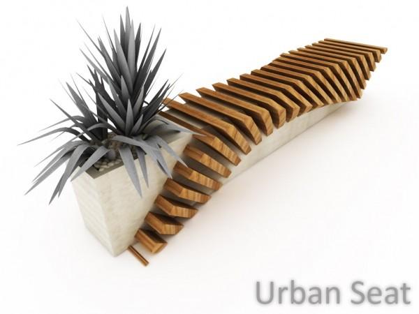 Urban Bench With A Planter By Juampi Sammartino Interior
