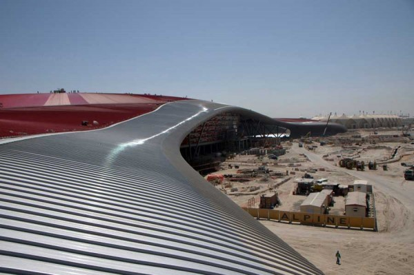 ferrai world 11 600x399 Ferrari World theme park Abu Dhabi by Benoy