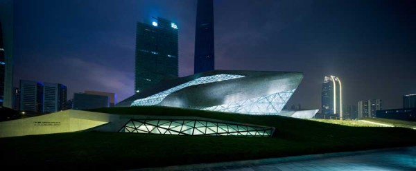 guangzhou opera house 600x248 Guangzhou Opera House by Zaha Hadid Architect