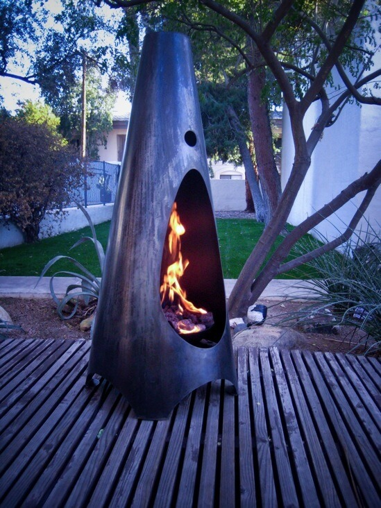 modfirejpg 6 Outdoor fireplace for a secure home