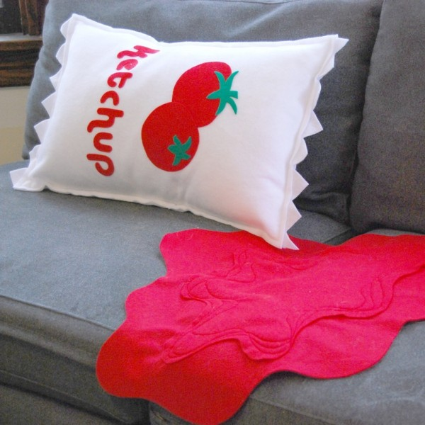 pillow design 1 600x600 Pillow design,CABIN FEVER SALE With Ketchup on the Side Pillow and Spill