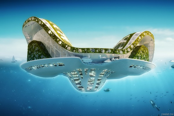 pixelab callebaut lillypads uw 600x400 LILYPAD, A FLOATING ECOPOLIS FOR CLIMATE REFUGEES | futuristic architectural concept
