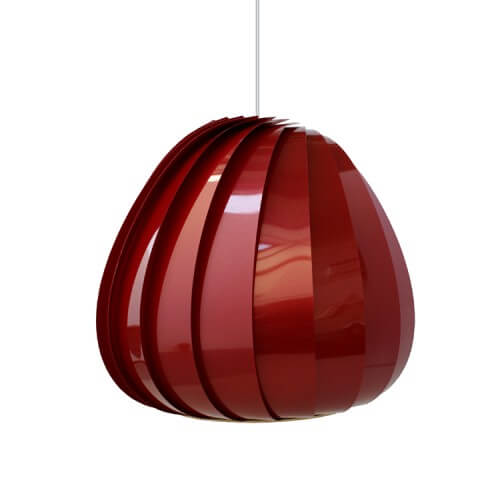 sculptural lamp 6 Sculptural lamps the TR12 Pendant Plastic by Tom Rossau