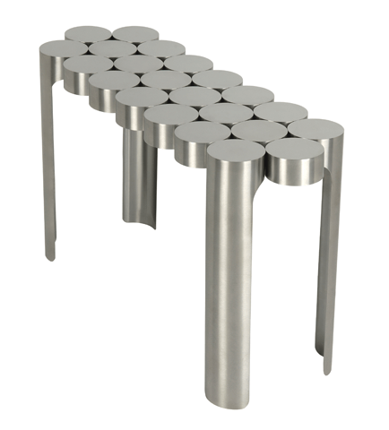 Engineered stainless steel furniture by Toni Grilo Riluc