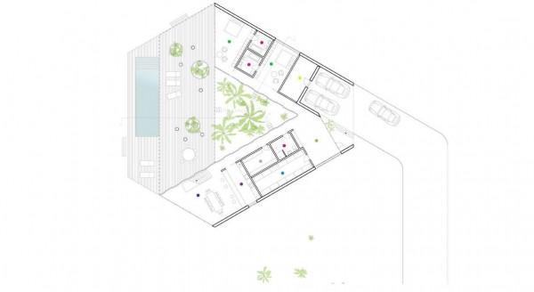 Triangular house concept and plans interior design for Triangular house floor plans