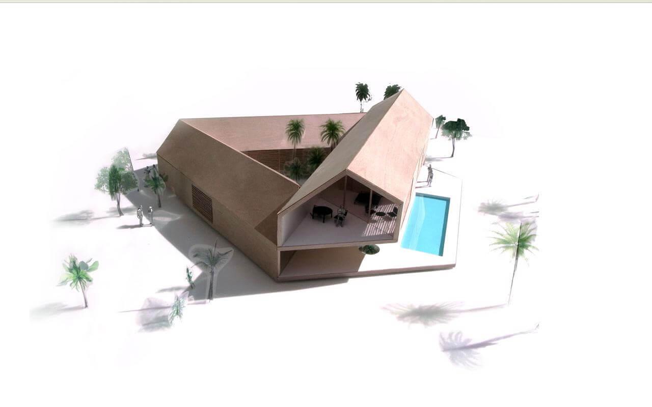 Triangular House Concept And Plans Interior Design