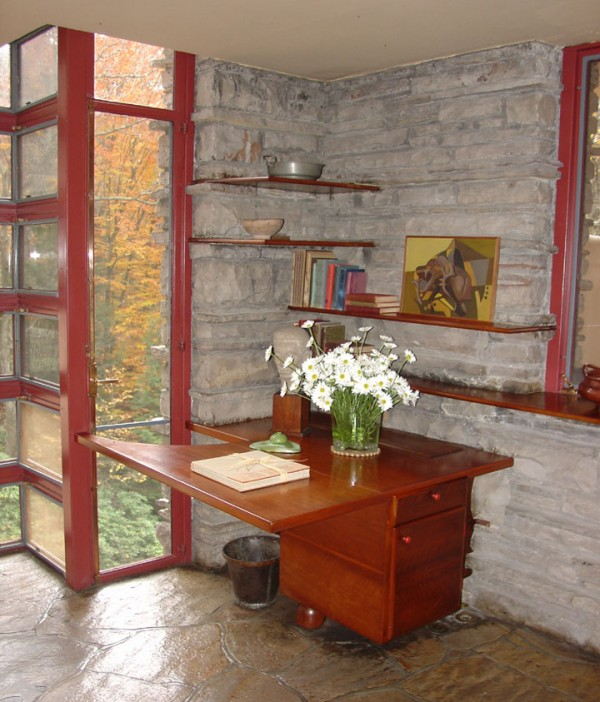 fallingwaterfrank lloyd wright – interior design, design news