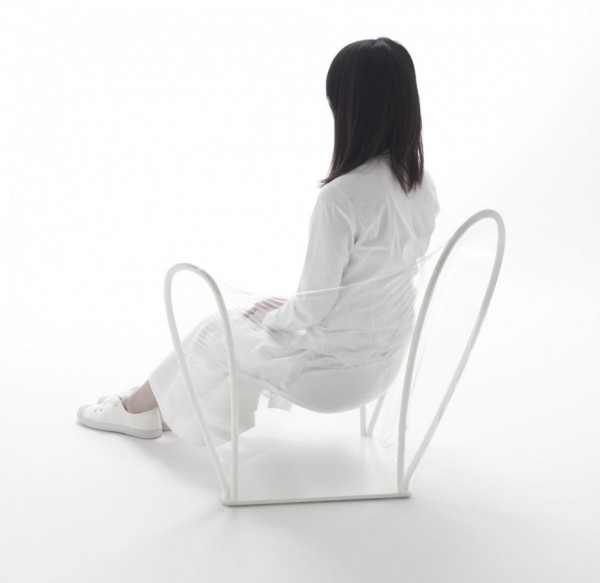 transparent chair 1 600x583 Transparent Chair by NENDO a great pieces for interior design