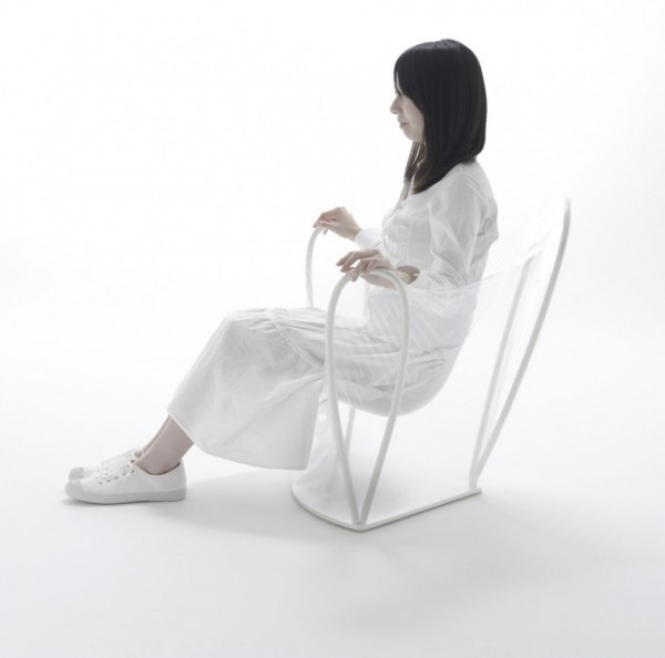 transparent chair 2 600x594 Transparent Chair by NENDO a great pieces for interior design