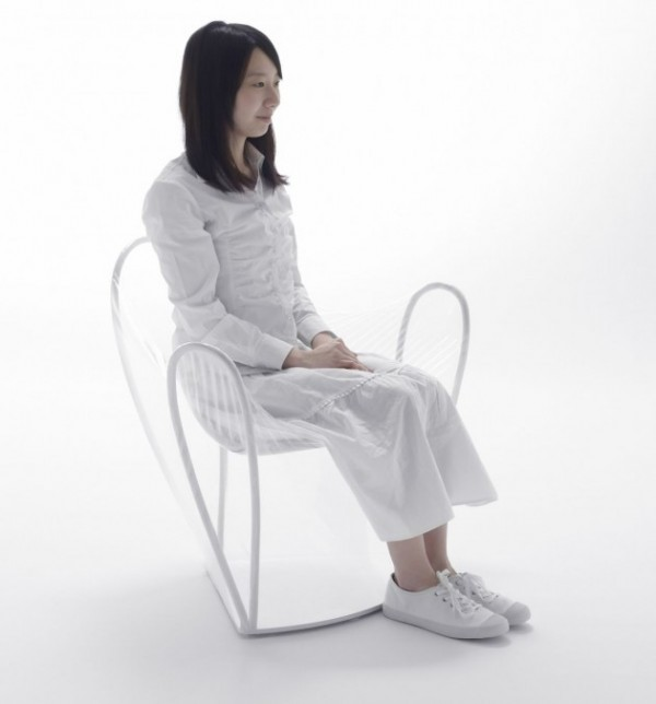 transparent chair 600x644 Transparent Chair by NENDO a great pieces for interior design