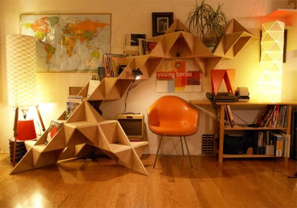 Triangle SHELFjpg 6 How to decorate your room with Triangle shelfs?