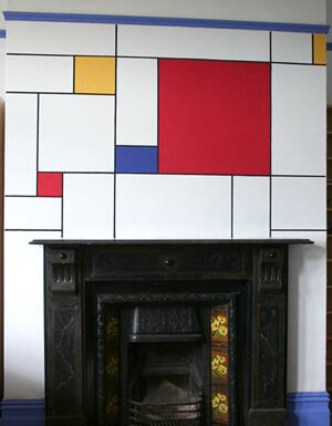 interior design styles mondrian 9 Design in Mondrian style