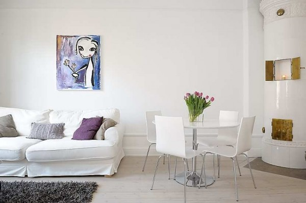 swedish apartment 1 600x399 Modern swedish architecture, a great apartment design
