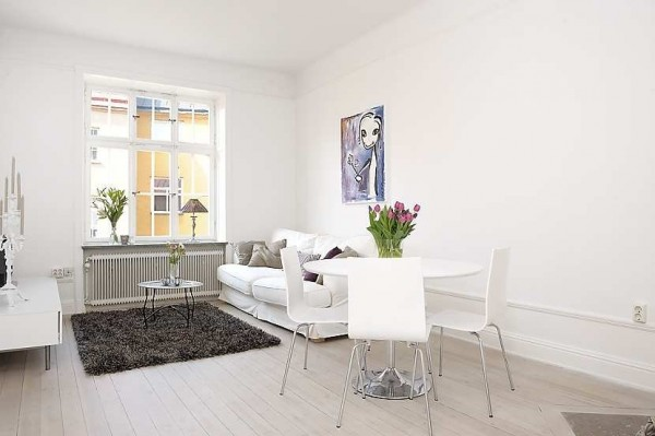 swedish apartment 600x399 Modern swedish architecture, a great apartment design