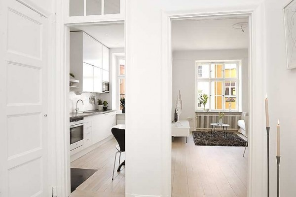 swedish apartment 7 600x399 Modern swedish architecture, a great apartment design