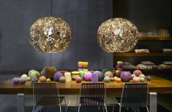 missoni bubble lamps 1 600x393 Bubble Lamp by Missoni Home