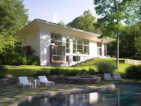 modern architecture 2 600x450 Pawling Residence modern architecture design with a trendy interior design in New York