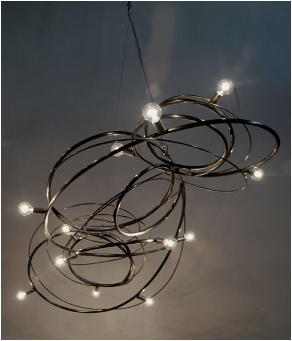 Chandeliers Sculptural Steel Lighting 12 Chandeliers Sculptural Steel Lighting by Jessica Kay Bodner