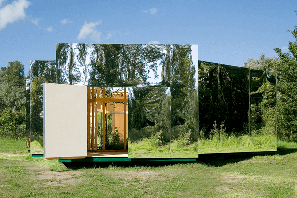 Outdoor Pavilion 1 Outdoor Pavilion Design with Mirrors by DHL architecture
