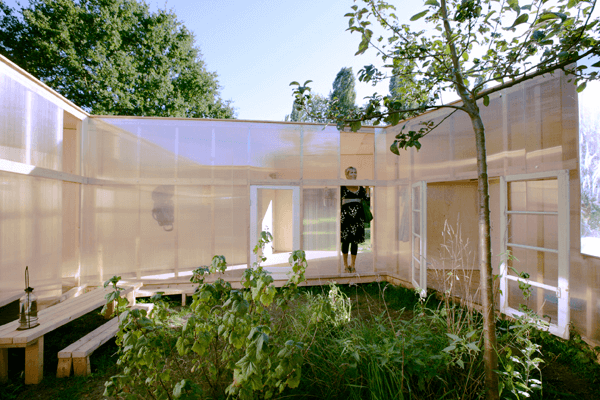 Outdoor Pavilion 6 Outdoor Pavilion Design with Mirrors by DHL architecture