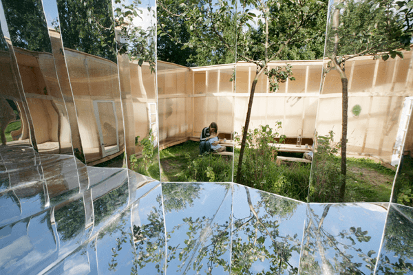 Outdoor Pavilion Outdoor Pavilion Design with Mirrors by DHL architecture