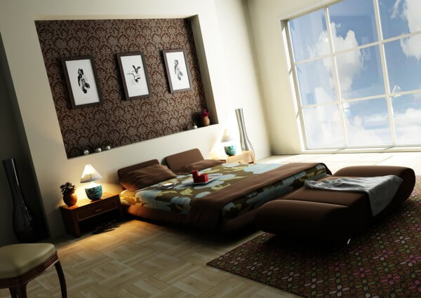 bedroom colors - Brown Bedroom Design
