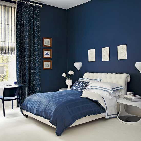 Colors For Bedrooms Walls Glamorous Of Dark Blue Bedroom Walls Image