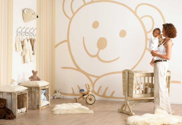 kids bedroom 11 600x412 Kids Bedroom Wall Painting Ideas