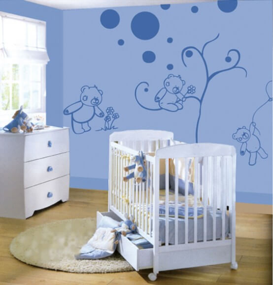 kids bedroom 2 Kids Bedroom Wall Painting Ideas