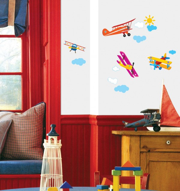 kids bedroom 3 600x637 Kids Bedroom Wall Painting Ideas