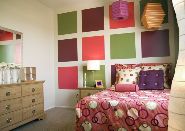 kids bedroom 4 600x423 Kids Bedroom Wall Painting Ideas