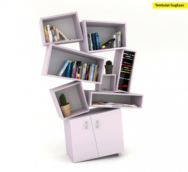 tectonic cabinet 1 600x548 Tectonic bookcase by Tembolat  Gugkaev