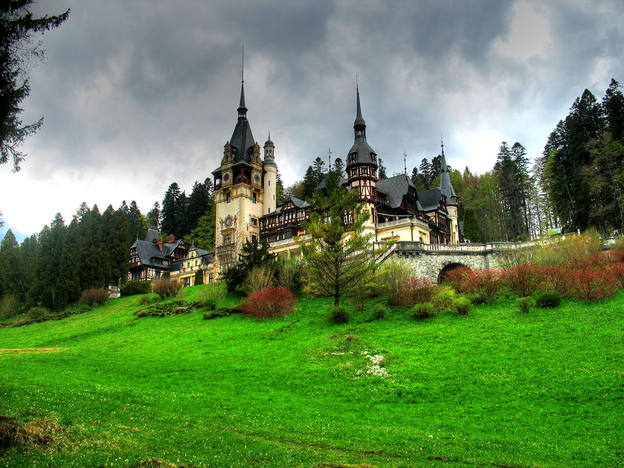 Peles Castle a beautiful architecture design