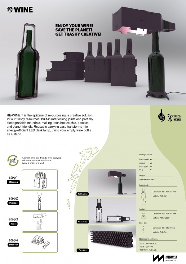 20110802 winebottlelamp DM 01 600x848 Re Wine: Wine Bottle Lamp/Furniture