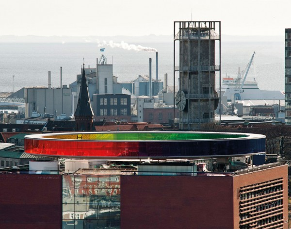 AROS Your rainbow panorama Olafur Eliasson 10 600x472 Spectacular Work of Art for ARoS Danish Museum