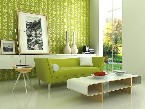 Amazing Stylish Modern Green Living Room Interior Design The Psychology of Color for Interior Design