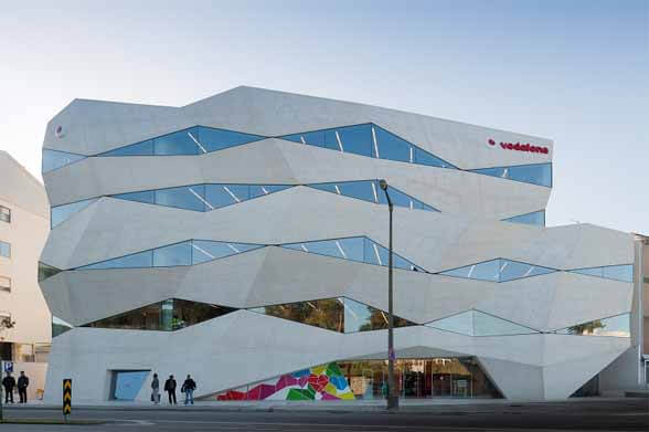 Architecture Vodafone Headquarters Building by Barbosa Guimar%C3%A3es Innovative and Appealing  Design of Vodafone Office Building in Porto